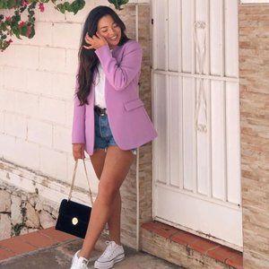 Zara Lilac V-Neck Blazer